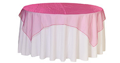 72 inch Square Organza Table Overlays