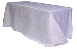 90 x 156 in. Crinkle Taffeta Rectangle Tablecloths