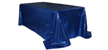 90 x 156 inch Glitz Sequin Rectangular Tablecloths