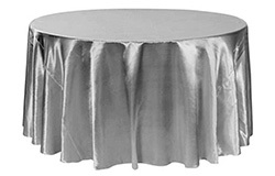 132 inch Satin Round Tablecloths
