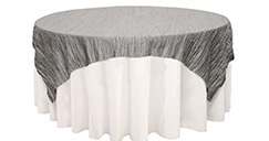 90 inch Square Crinkle Taffeta Table Overlays