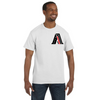 Men's American First Firefighter Tribute Reflective T-Shirt (Black Graphic)