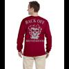 Back OFF Brotherhood Skull Long Sleeve Reflective Cotton T-Shirt