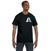 Men's American First Police Blue Stripe Flag Reflective T-Shirt