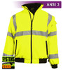 This Hi Vis Safety Jacket is an ANSI Class 3 compliant water resistant 3 Season Jacket. It is made with a tough woven polyester shell which is soft and supple. The polar fleece lining (330 grams) with full interliner and zip through collar will keep you warm on colder days. Our VEA® brand (Visibility Enhanced Apparel) High Visibility Jackets feature 3M™ Scotchlite™ Reflective Material. It can be zipped into our High Visibility Parkas as part of our Systems Gear.