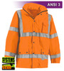 Our High Visibility Orange Jacket Visibility Enhanced Apparel (VEA®) is an ANSI Class III compliant waterproof breathable mesh lined work parka. As a part of our Systems Gear, you can extend the season by zipping in our VEA-421 3-Season Jacket for comfort in extreme conditions. Another option for lining the parka is the VEA-602 Zip Hooded Sweatshirt.