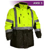 This Hi Vis Safety Jacket is an ANSI Class 3 compliant 2-Tone Waterproof Parka with 3M™ Thinsulate™ Insulation. Our VEA® brand (Visibility Enhanced Apparel) High Visibility Jackets feature 3M™ Scotchlite™ Reflective Material.