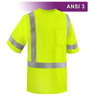 This Hi Vis Safety Shirt is ANSI Class 3 Compliant. Made with lightweight 4.1oz Birdseye Knit Polyester. It feels butter soft on the inside, yet is work-wear durable. The performance fabric wicks away moisture 3x faster than cotton and minimizes odor. Our VEA® brand (Visibility Enhanced Apparel High Visibility Shirt is compliant to ANSI/ISEA Class III for increased conspicuity. In addition, this shirt is available in Tall, sizes L-6X and features 3M™ Scotchlite™ Reflective Material.