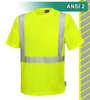 This High Visibility Safety Shirt is ANSI Class 2 Compliant. Made with lightweight 6oz Jersey Knit Polyester, it has a cotton-like feel. The performance fabric wicks away moisture 3 times faster than cotton. In addition, the 3M™ Scotchlite™ Reflective Material – 5510 Comfort Trim adds extra comfort and does not buckle or rub like sewn on reflective tape.
