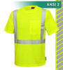 This Hi Vis Safety Shirt is ANSI Class 2 Compliant. Made with lightweight 4.1oz Birdseye Knit Polyester. It feels butter soft on the inside, yet is work-wear durable. The performance fabric wicks away moisture 3 times faster than cotton and minimizes odor. Our VEA® brand (Visibility Enhanced Apparel) High Visibility Shirt is available in Tall, sizes L-6X. In addition, the 3M™ Scotchlite™ Reflective Material – 5510 Comfort Trim adds extra comfort and does not buckle or rub like sewn on reflective tape.