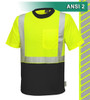 This Hi Vis Safety Shirt is ANSI Class 2 Compliant. Made with lightweight 4.1oz Birdseye Knit Polyester. It feels butter soft on the inside, yet is work-wear durable. The performance fabric wicks away moisture 3 times faster than cotton and minimizes odor. Our VEA® brand (Visibility Enhanced Apparel) High Visibility Shirt is two-tone lime/black to help hide dirt and stains. In addition, the 3M™ Scotchlite™ Reflective Material – 5510 Comfort Trim adds extra comfort and does not buckle or rub like sewn on reflective tape.