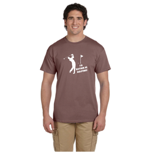 I'd Rather Be Golfing Men's Reflective T-Shirt