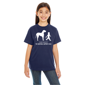 Girl's Emotional Support Child Reflective T-Shirt
