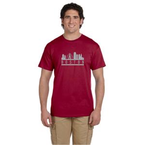 Boston Skyline Men's Reflective T-Shirt