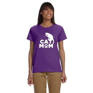 Cat Mom Women's Reflective T-Shirt