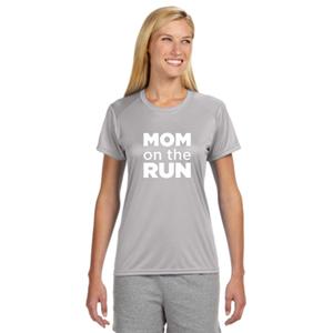 Mom On The Run Women's Short-Sleeve Athletic Reflective Shirt