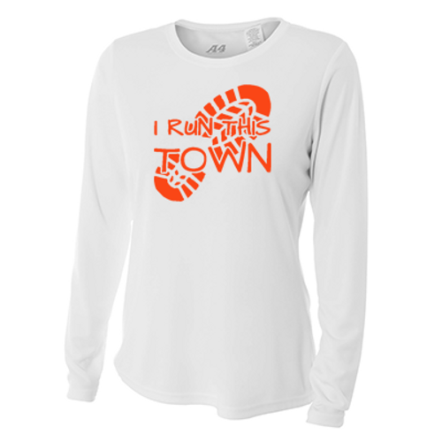 038ebce9 I Run This Town - Women's Long-Sleeve Athletic Reflective Shirt