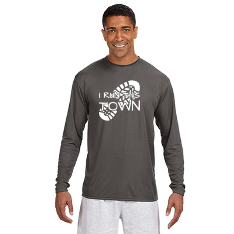 8e0bcec3bba I Run This Town - Men's Long-Sleeve Reflective Athletic Shirt