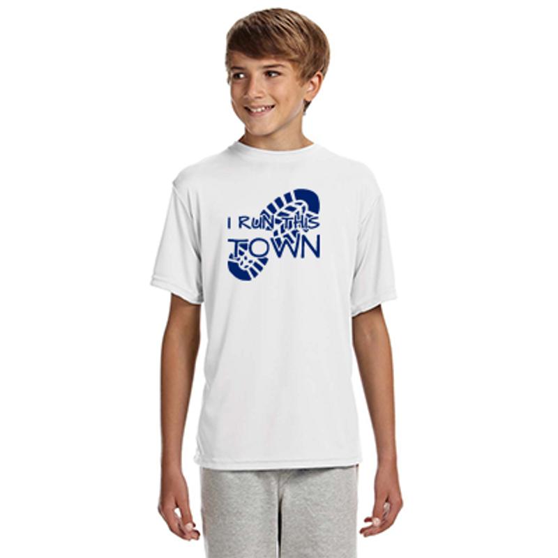 93e8d006d86 I Run This Town - Boy's Short-Sleeve Reflective Athletic Shirt (alt1)