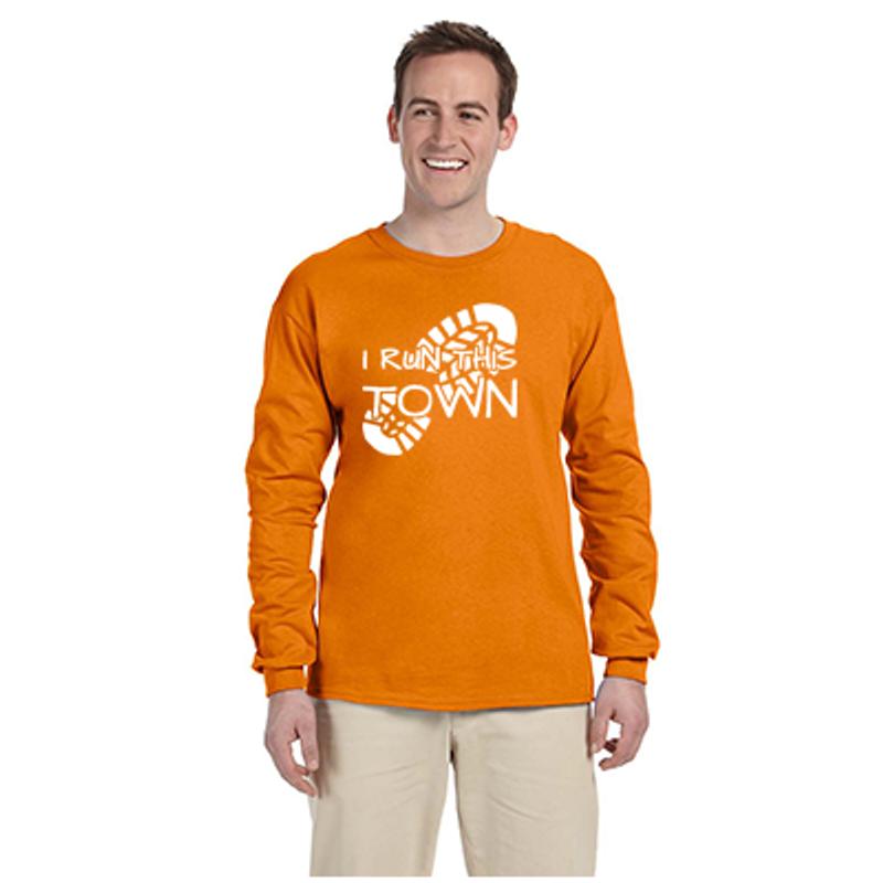 244bc7dee80 I Run This Town - Men's Ultra Cotton Long-Sleeve Reflective Shirt
