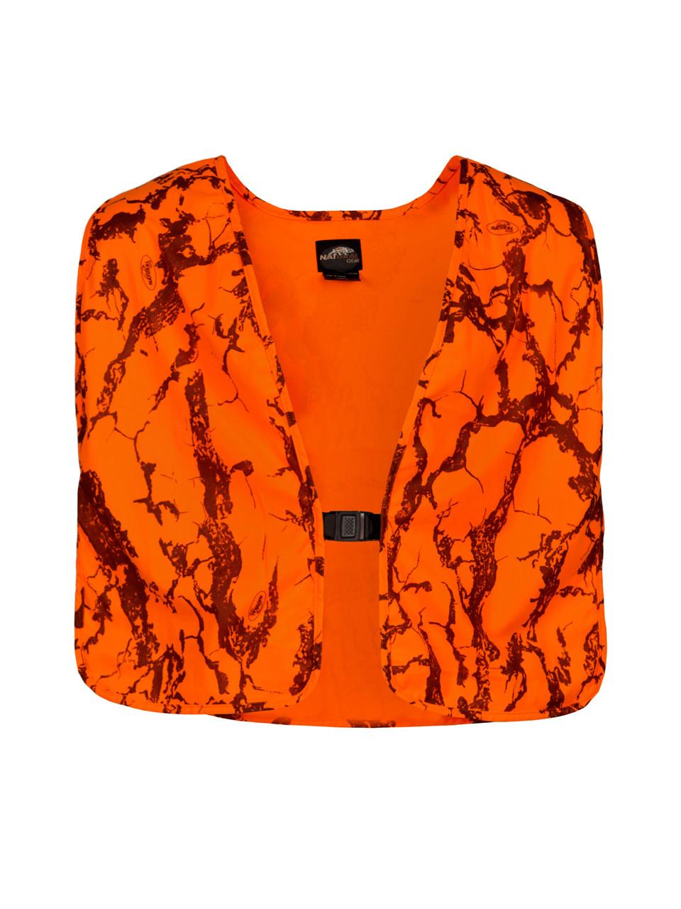 338039e7321ab Blaze Camo Safety Vest - Hunter's Orange Vest - Natural Gear