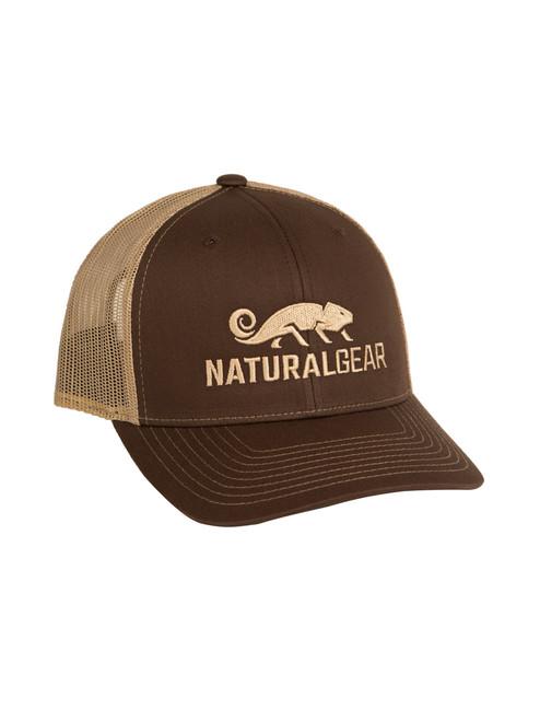5909d4cc879f3 Richardson Trucker Cap Brown - Natural Gear