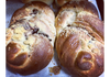 Chocolate Flat Braided Challah Bread