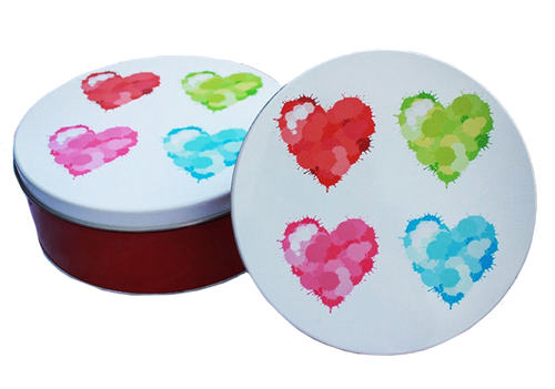 Hearts Tin Cookie Sampler