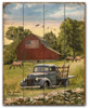 """Truck and Barn""-- 12""x15""  Planked Wood Sign"