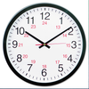 "24-Hour MILITARY TIME-- Round Wall Clock, 12 5/8"", Black"