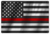 """United States Firefighters Flag""  12x18  Metal  Sign"