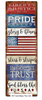 """PATRIOTIC GOD BLESS THE USA""  METAL  SIGN"