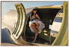 """ PIN-UP IN THE HOLD OF A  C-47 Skytrain""  METAL  SIGN"
