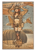 """A  PARATROOPER'S  """"OOPS""""  MOMENT--  BIRCH WOOD  PRINT"""
