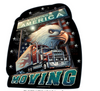"""""""TRUCKERS  KEEP  AMERICA  MOVING""""   METAL  SIGN"""