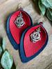 American Sailor Leather Leaf Earrings