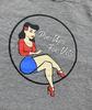 Women's Pin-Up Girl Shirt Grey
