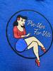 Women's Pin-Up Girl Shirt Blue