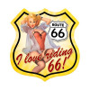"""ROUTE  66   PIN-UP""   VINTAGE METAL SIGN"