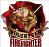 """FIREFIGHTER  BULLDOG"" METAL SIGN"