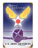 """""""DAWN OF YOUR FUTURE--ARMY AIR FORCES""""  METAL SIGN"""