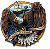 """NAVY  EAGLE ""  METAL  SIGN"