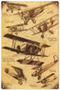 """""""REPRODUCTION VINTAGE AIRPLANE""""  METAL  SIGN"""