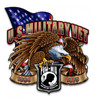 """U.S.  VIETNAM  VETERANS""  TRIBUTE  METAL  SIGN"