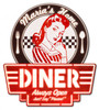 """Personalized  Mom's  Home  Diner""  Metal Sign"