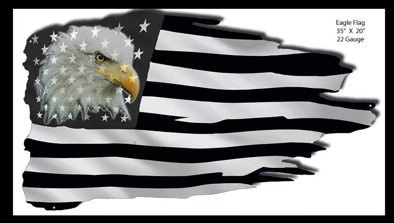 Eagle American Flag Laser Cut Metal Wall Art Pin Ups For Vets Store