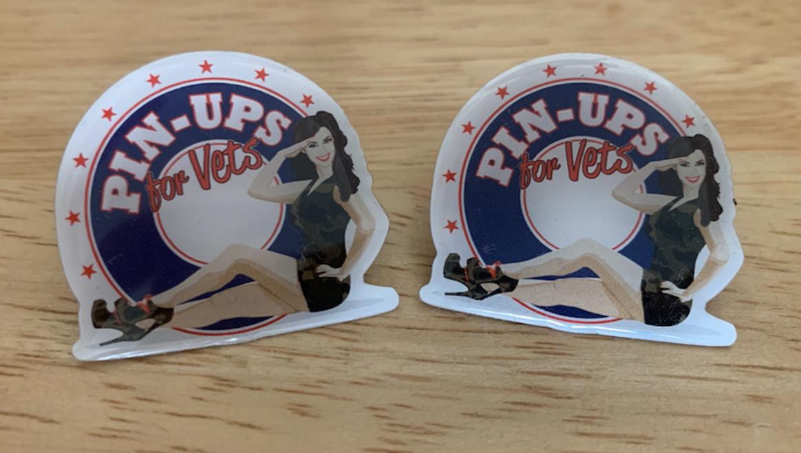 """""""PIN-UPS  FOR  VETS""""  LOGO  PIN"""