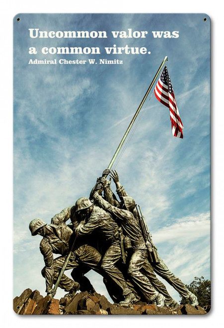 """""""UNCOMMON  VALOR""""  METAL  SIGN"""