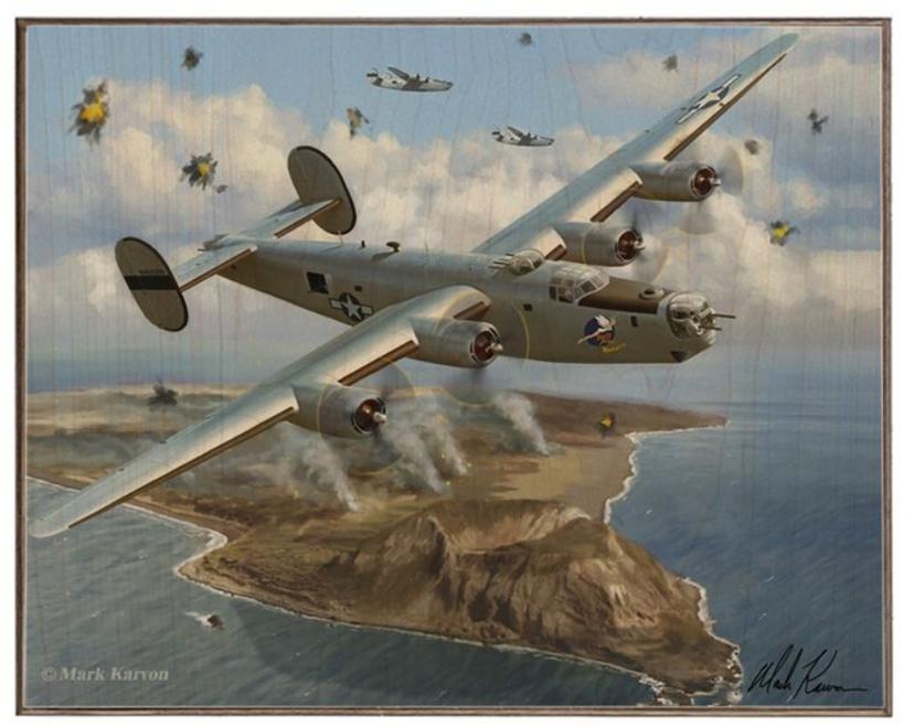 """B-24 Liberator""----12X15 Birch Wood Print"