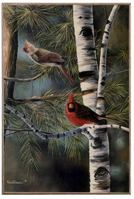 """""""A Touch of Red """" ---12X18 Birch Wood Print"""